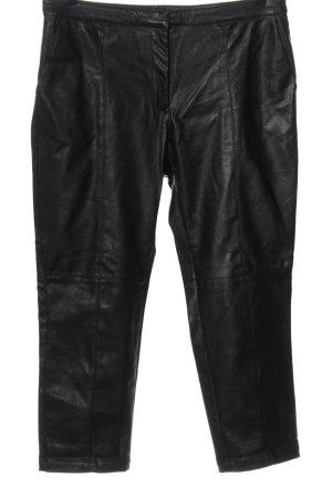 H&M Kunstlederhose schwarz Casual-Look