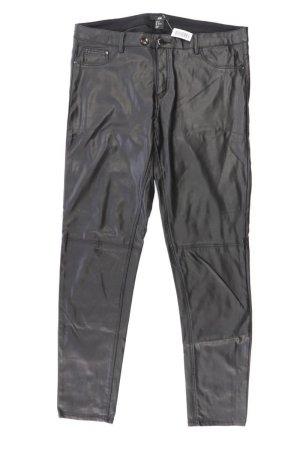 H&M Kunstlederhose Größe 42 schwarz aus Polyurethan