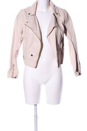 H&M Chaqueta de cuero de imitación blanco puro look casual