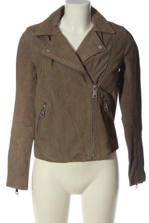 H&M Kurtka z imitacji skóry brązowy W stylu casual