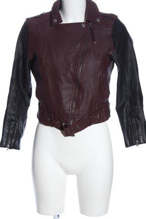 H&M Kurtka z imitacji skóry czerwony-czarny W stylu casual