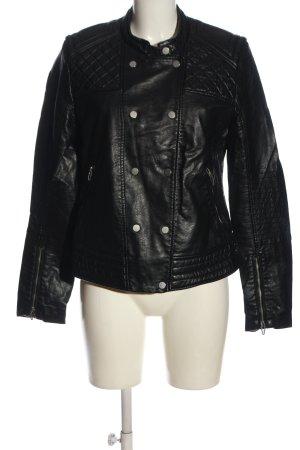H&M Kurtka z imitacji skóry czarny W stylu casual