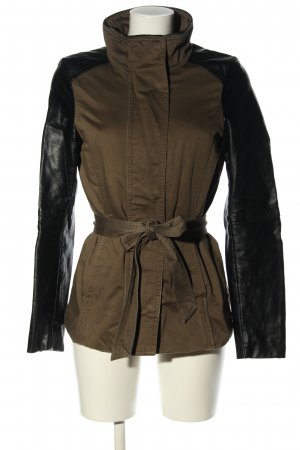H&M Kurtka z imitacji skóry czarny-brązowy W stylu casual