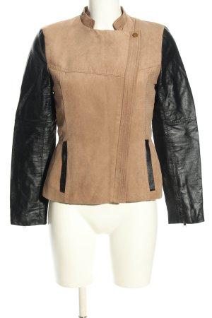 H&M Kurtka z imitacji skóry brązowy-czarny W stylu casual