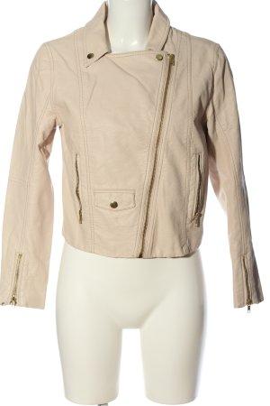 H&M Kurtka z imitacji skóry w kolorze białej wełny W stylu casual