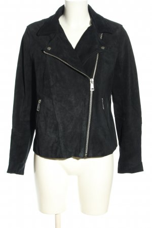 H&M Faux Leather Jacket black casual look