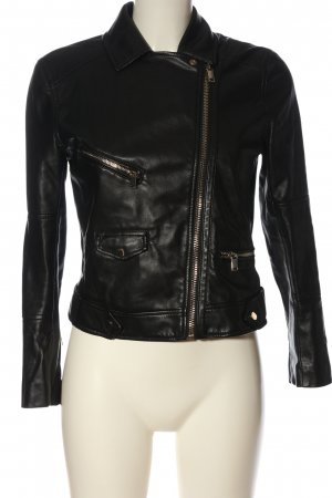 H&M Giacca in ecopelle nero stile casual