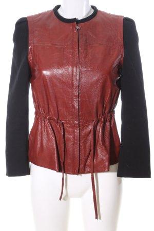 H&M jacke schwarz-rot Business-Look