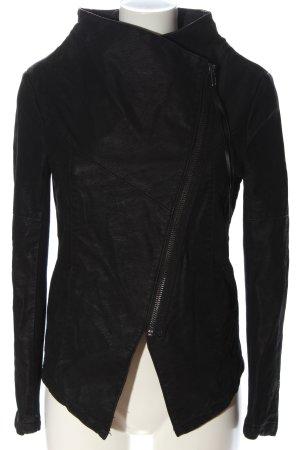 H&M Veste en cuir synthétique noir style décontracté