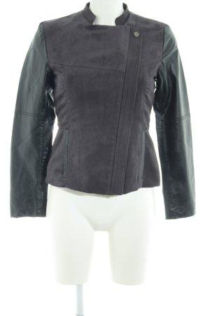 H&M jacke dunkelgrau-schwarz Lederelemente