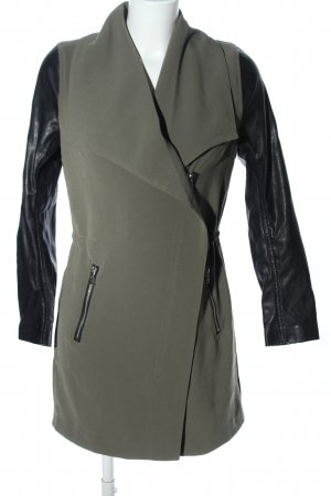 H&M jacke khaki-schwarz Business-Look