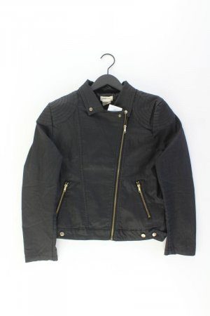H&M Kunstlederjacke Größe 46 schwarz