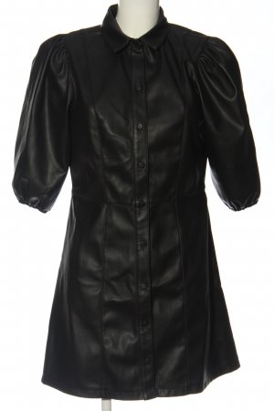 H&M Kunstlederkleid schwarz Casual-Look