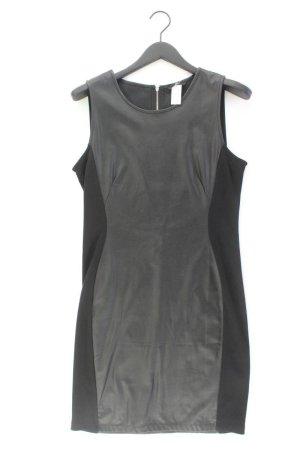 H&M Kunstlederkleid Größe M Ärmellos schwarz aus Polyester