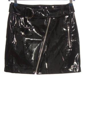 H&M Gonna in ecopelle nero elegante