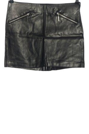 H&M Rok van imitatieleder zwart feest stijl