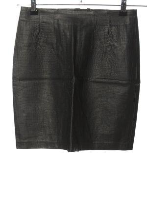 H&M Spódnica z imitacji skóry czarny W stylu casual