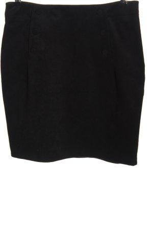 H&M Spódnica z imitacji skóry czarny W stylu biznesowym