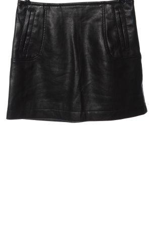 H&M Kunstlederrock schwarz Casual-Look