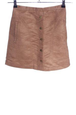 H&M Spódnica z imitacji skóry brązowy W stylu biznesowym