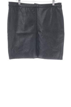 H&M Jupe en cuir synthétique noir style décontracté