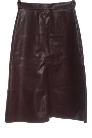 H&M Spódnica z imitacji skóry fiolet W stylu casual