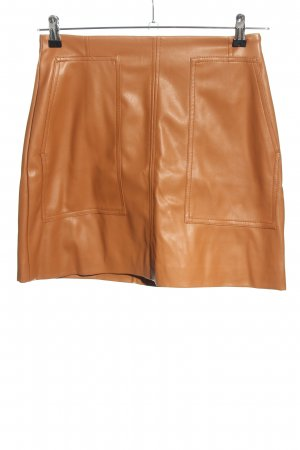 H&M Jupe en cuir synthétique orange clair style décontracté