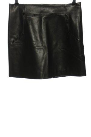 H&M Rok van imitatieleder zwart extravagante stijl