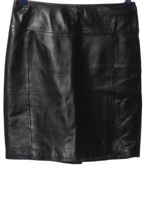 H&M Falda de cuero de imitación negro look casual