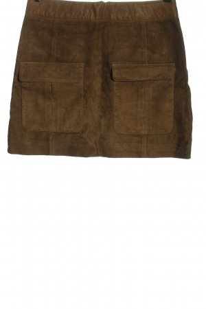 H&M Faux Leather Skirt brown casual look