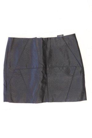 H&M Jupe en cuir synthétique noir polyuréthane