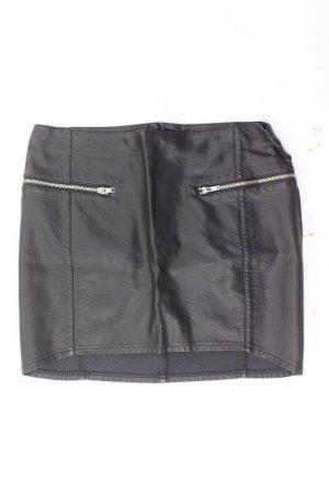 H&M Faux Leather Skirt black viscose
