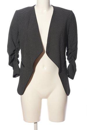 H&M Kurz-Blazer schwarz-weiß Punktemuster Business-Look