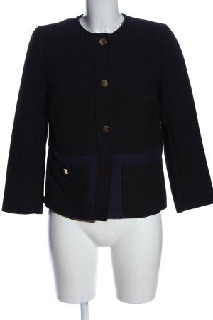 H&M Kurz-Blazer schwarz-blau Business-Look