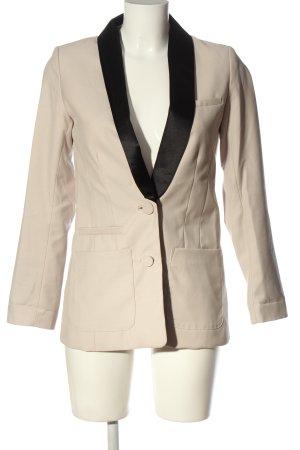 H&M Short Blazer natural white-black business style