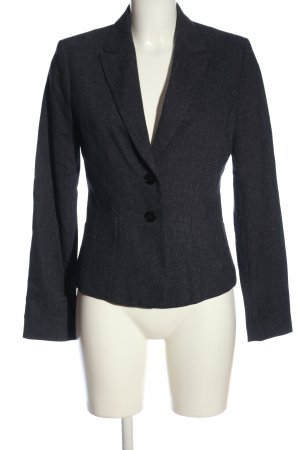 H&M Kurz-Blazer blau Webmuster Business-Look