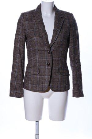 H&M Kurz-Blazer braun-hellgrau Karomuster Business-Look