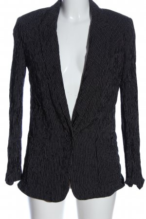 H&M Kurz-Blazer schwarz-weiß Streifenmuster Casual-Look
