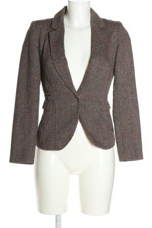 H&M Blazer corto marrón Patrón de tejido estilo «business»