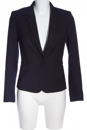H&M Kurz-Blazer blau-weiß Allover-Druck Business-Look