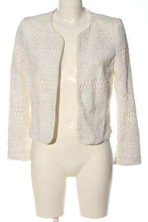 H&M Kurz-Blazer weiß grafisches Muster Casual-Look