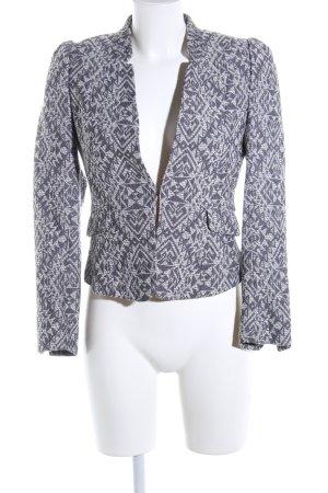 H&M Kurz-Blazer hellgrau Allover-Druck Business-Look