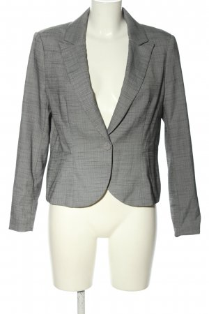 H&M Kurz-Blazer hellgrau meliert Business-Look