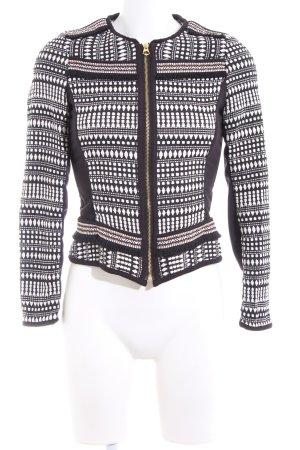H&M Kurz-Blazer grafisches Muster Business-Look