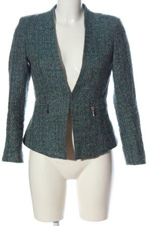 H&M Kurz-Blazer grün-khaki Allover-Druck Business-Look