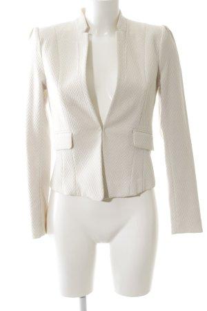 H&M Short Blazer natural white allover print business style
