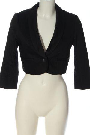 H&M Korte blazer zwart casual uitstraling