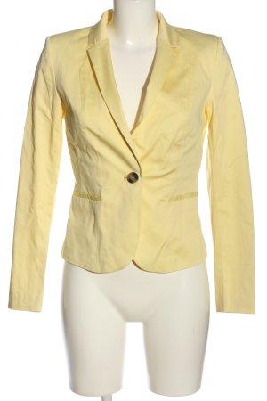 H&M Kurz-Blazer blassgelb Business-Look