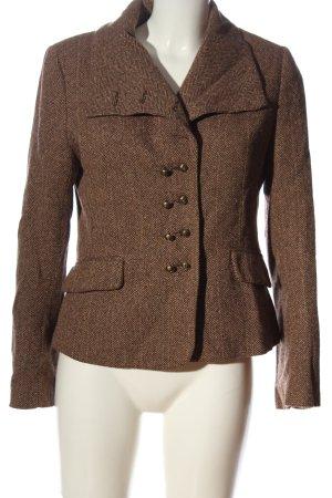 H&M Korte blazer bruin gestippeld casual uitstraling