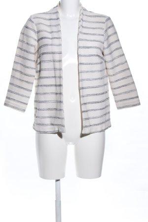 H&M Kurz-Blazer weiß-schwarz meliert Casual-Look